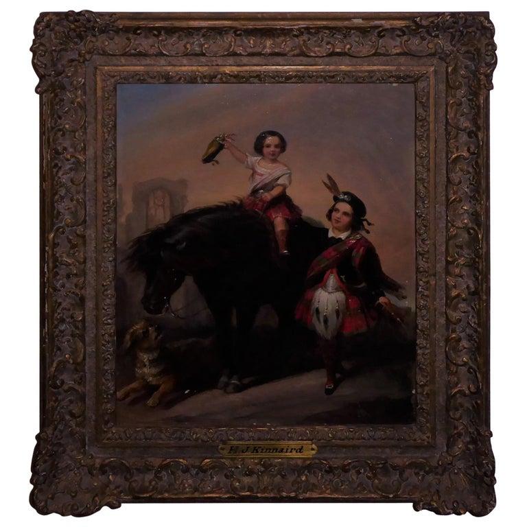 Henry John Kinnaird Oilon Panel For Sale