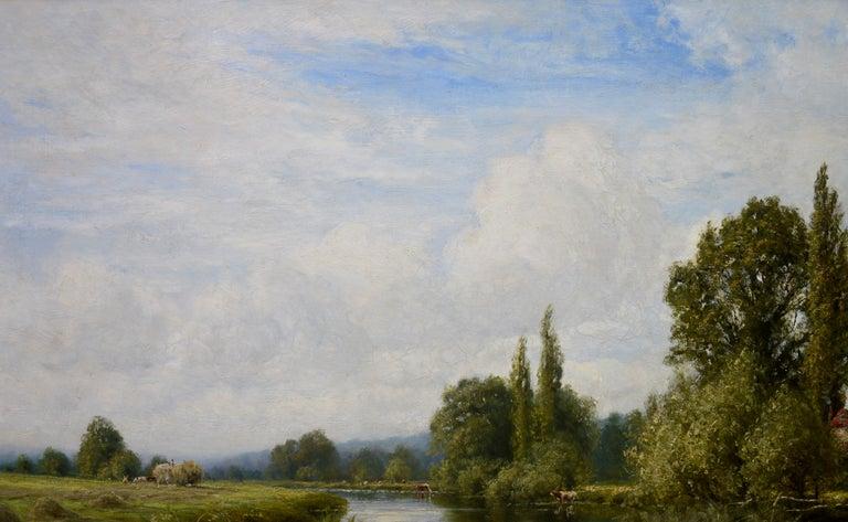 On the Thames near Mapledurham - 19th Century English Landscape Oil Painting 1