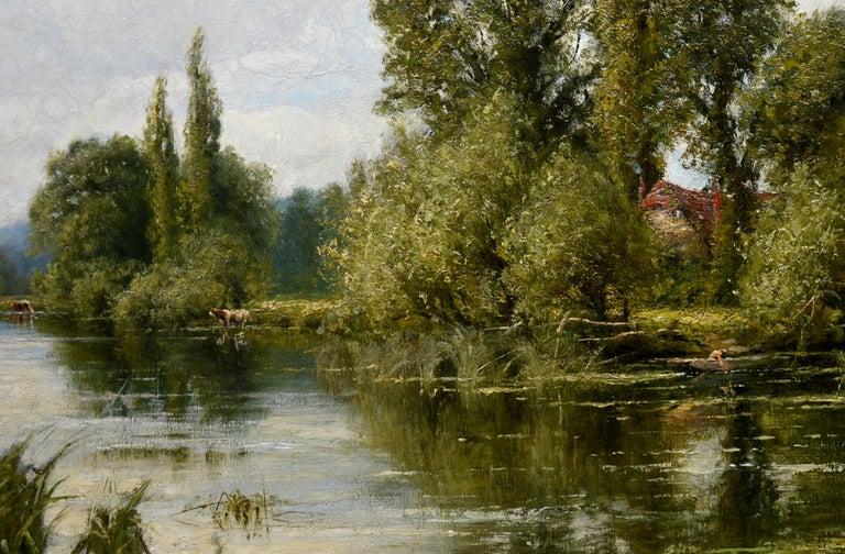 On the Thames near Mapledurham - 19th Century English Landscape Oil Painting 2