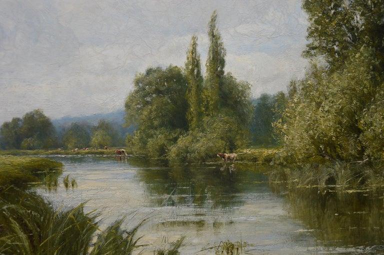 On the Thames near Mapledurham - 19th Century English Landscape Oil Painting 3