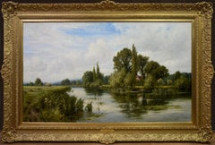 On the Thames near Mapledurham - 19th Century English Landscape Oil Painting