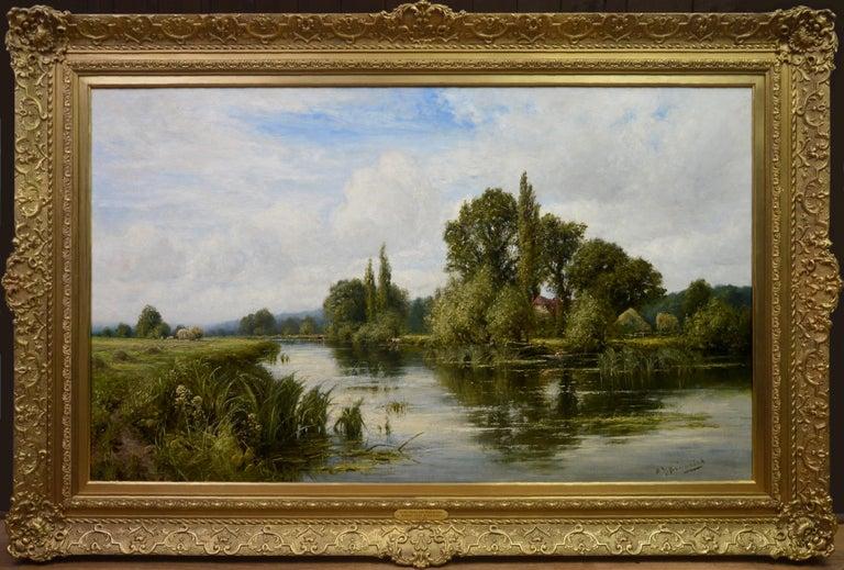 Henry John Kinnaird Landscape Painting - On the Thames near Mapledurham - 19th Century English Landscape Oil Painting