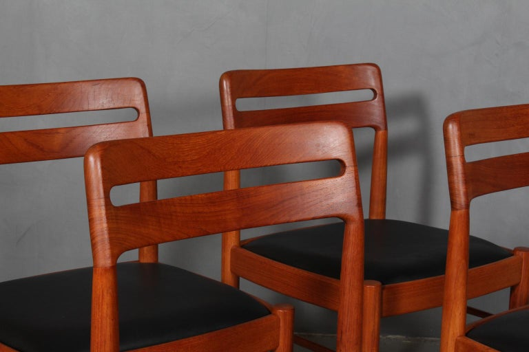 Scandinavian Modern Henry Klein Four Dining Chairs