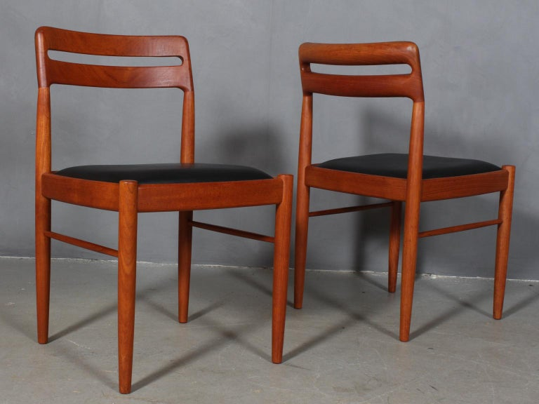 Danish Henry Klein Four Dining Chairs