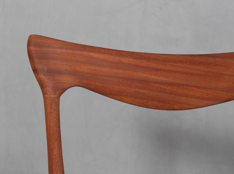 Henry Klein Six Dining Chairs, Teak and Leather Upholstery, 1960s Bramin In Excellent Condition For Sale In Esbjerg, DK