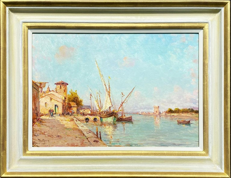 Henry Malfroy Landscape Painting - A Mediterranean Harbour