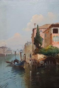 The Grand Canal and Santa Maria Della Salute, Venice.