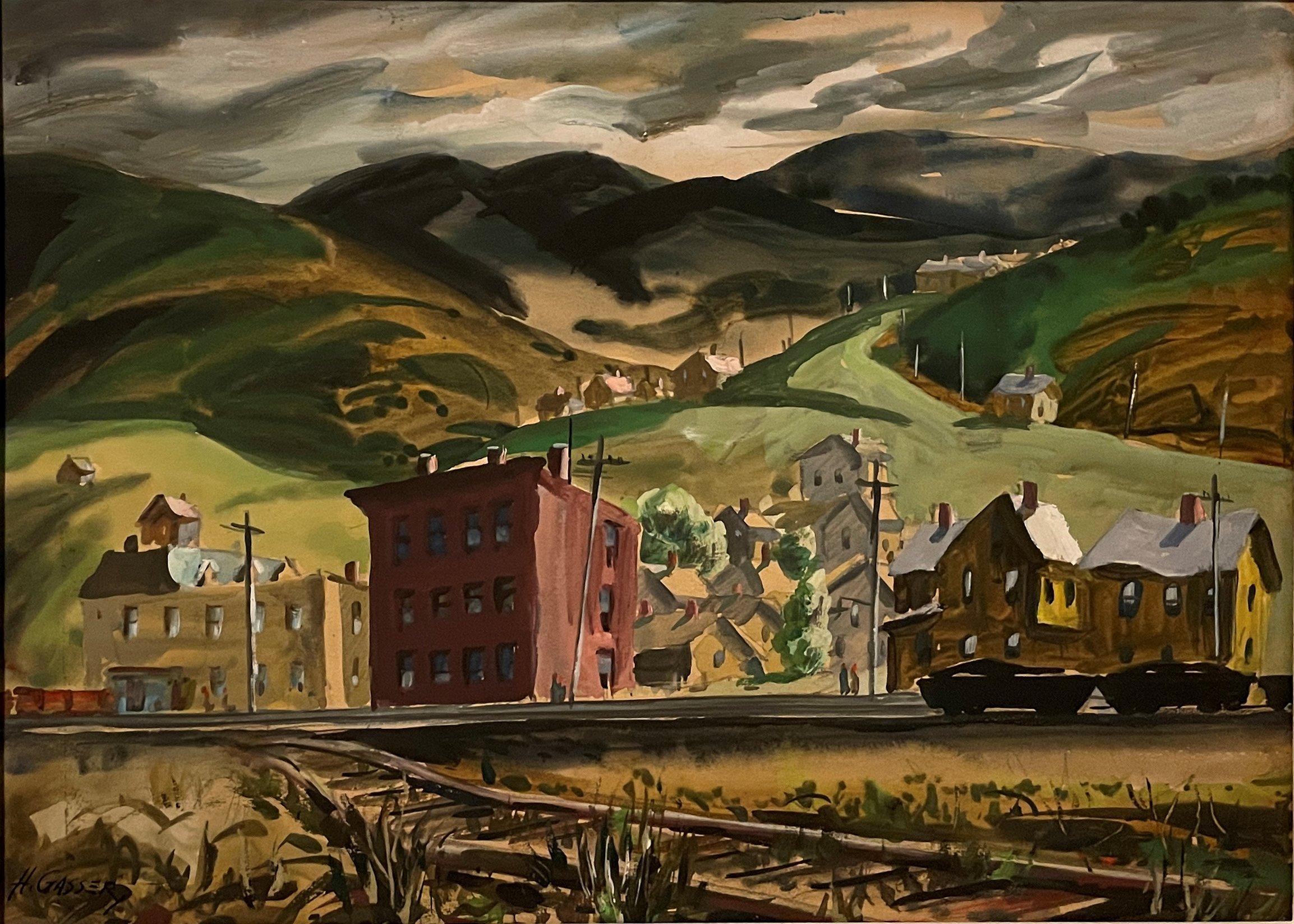 """""""End of the Tracks, Johnstown, Pennsylvania,"""" Henry Gasser, American Scene"""
