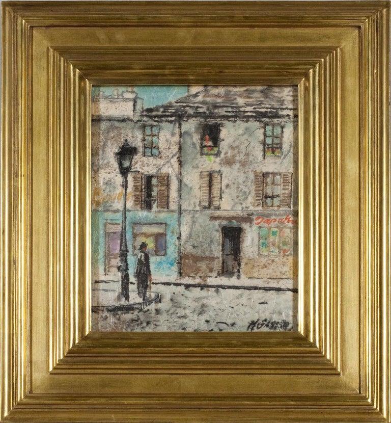 Street Corner - Painting by Henry Martin Gasser