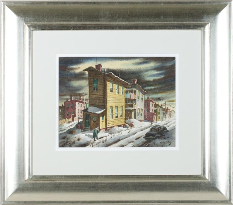 Winter Street - Painting by Henry Martin Gasser