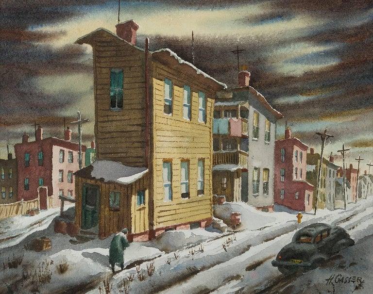 Henry Martin Gasser Landscape Painting - Winter Street