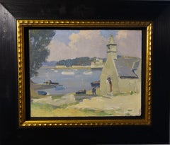 """""""Country of northern France """" Bretania,sea  oil cm. 32 x 24"""