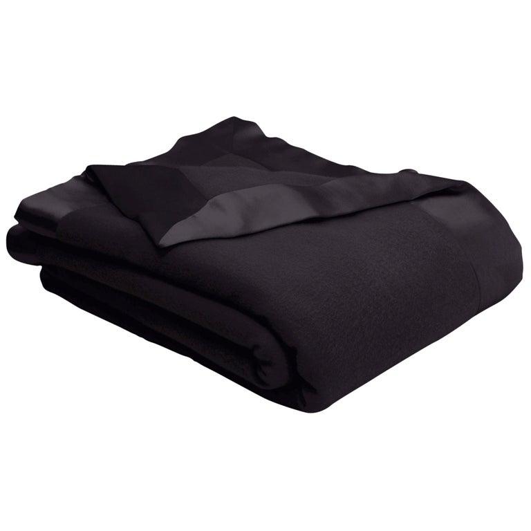 Henry Merino Bark Blanket with Silk Border by JG Switzer, Queen For Sale