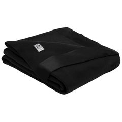 Henry Merino Black Blanket with Silk Border, Queen Size, by JG Switzer
