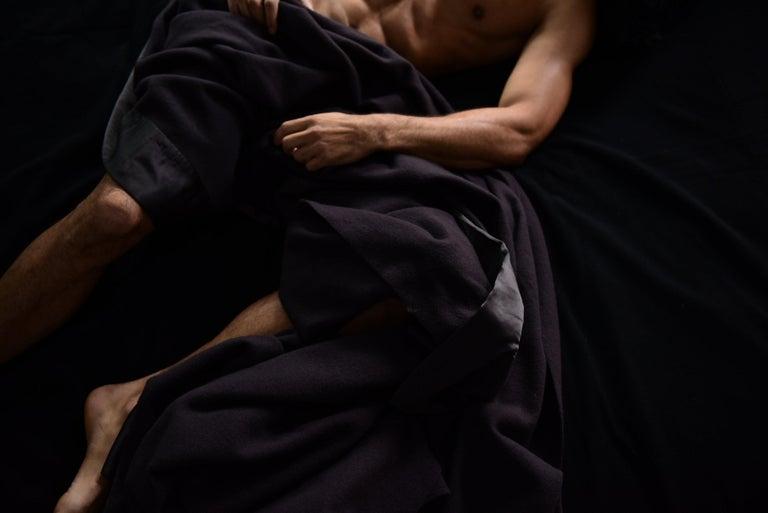 American Henry Merino Black King-Size Blanket with Silk Border by JG Switzer For Sale
