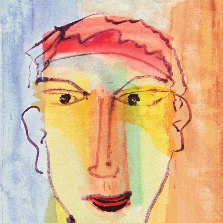 Expressionist Self Portrait by the Author of Tropic of Cancer and Black Spring For Sale 2