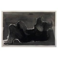 Henry Moore 1980 Aquatint Etching, Reclining Figure Terra Cotta