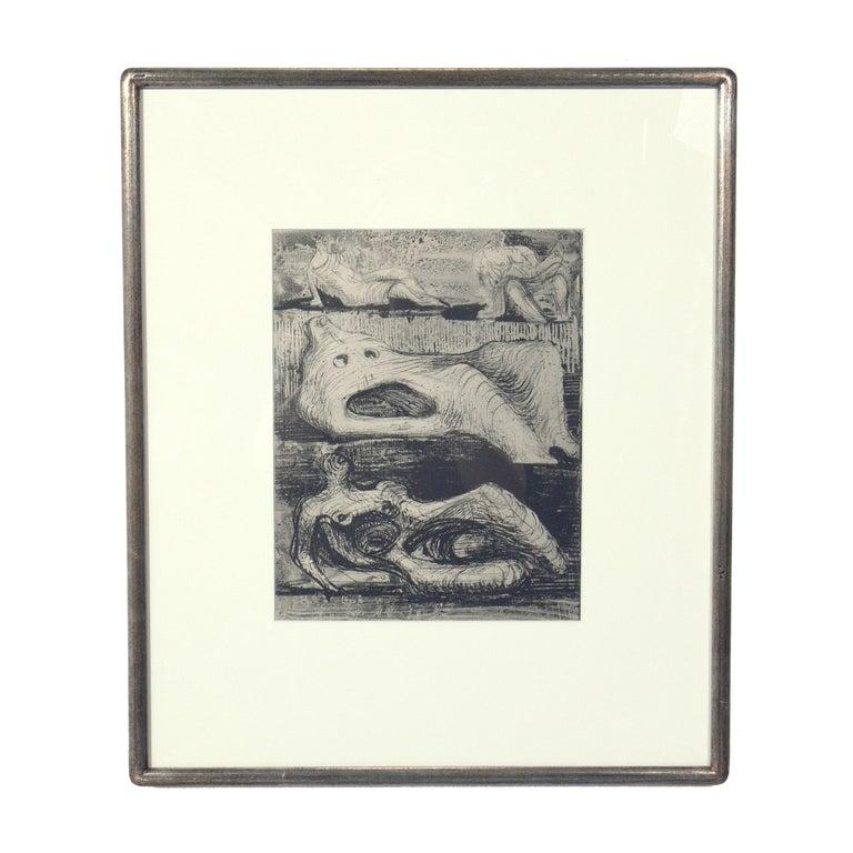 Gilt Henry Moore Modernist Prints For Sale
