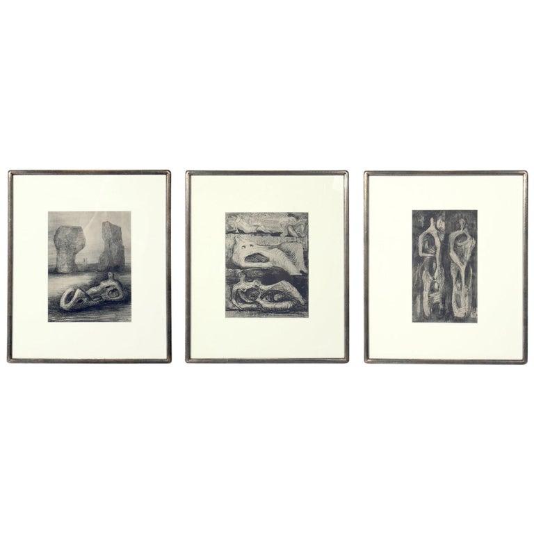 Henry Moore Modernist Prints For Sale