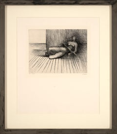 Reclining figure - etching - Henry Moore - the human figure