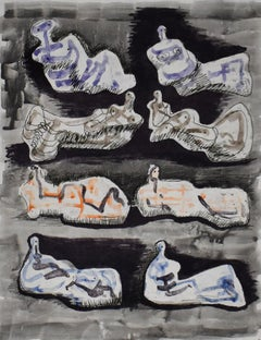 Eight Reclining Figures I, from: Meditations on the Effigy - British Figurative