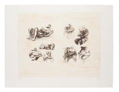 Eight Sculptural Ideas - Original Lithograph by Henry Moore - 1973