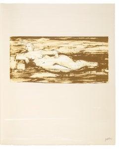 Femme Allongée - Henry Moore, Lithograph, Print, Contemporary Art