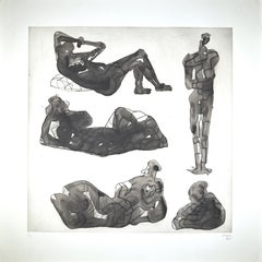 Five Sculptural Ideas - Original Etching by Henry Moore - 1980