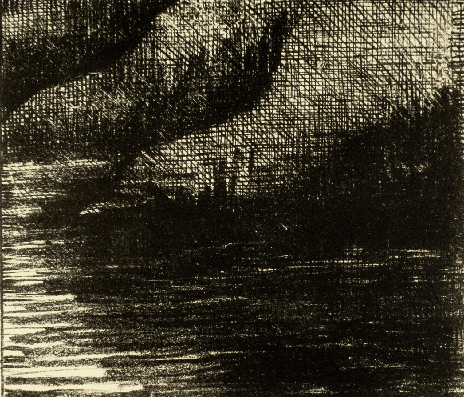 Fjord by Henry Moore drawing of Scottish landscape for W.H. Auden poetry book