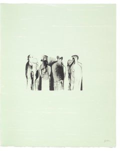 Four Standing Figures - Henry Moore, Lithograph, Print, Contemporary Art