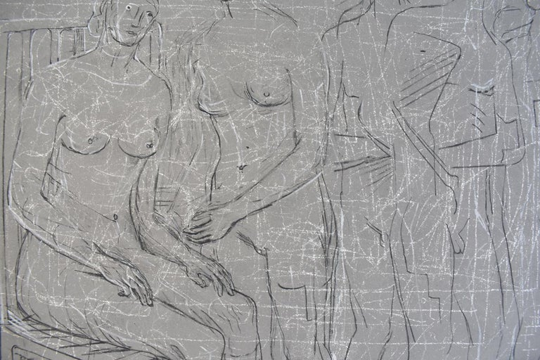 Group of Figures - British Figurative Abstract Art For Sale 1