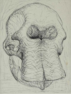 Henry Moore 'Elephant Skull I' Signed Limited Edition Etching