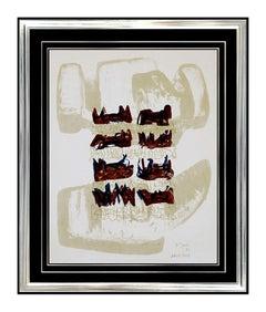 HENRY MOORE Original Signed EIGHT RECLINING FIGURES Lithograph Art Sculpture 8