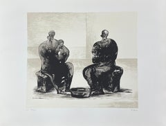 """Henry Moore, """" Two Women Bathing Child II"""", original lithograph, hand signed"""