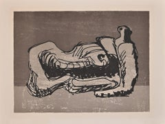Hommage è San Lazzaro - Original Lithograph by Henry Moore - 1975