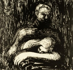 Lullaby Henry Moore portrait black and white drawing Auden poetry illustration