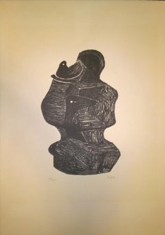 Mother and child - Henry Moore - 1970s - Lithograph - Contemporary