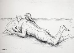 Mother and Child XIX - 20th Century, Print by Henry Moore