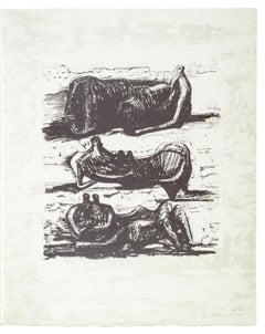 Poetry: Three Reclining Figures - Henry Moore, Prints, Lithograph, Contemporary