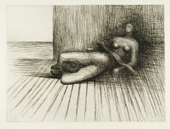 Reclining Figure 5 - 20th Century, Print by Henry Moore