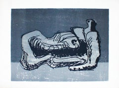 Reclining Figure - Original Lithograph by Henry Moore - 1970s