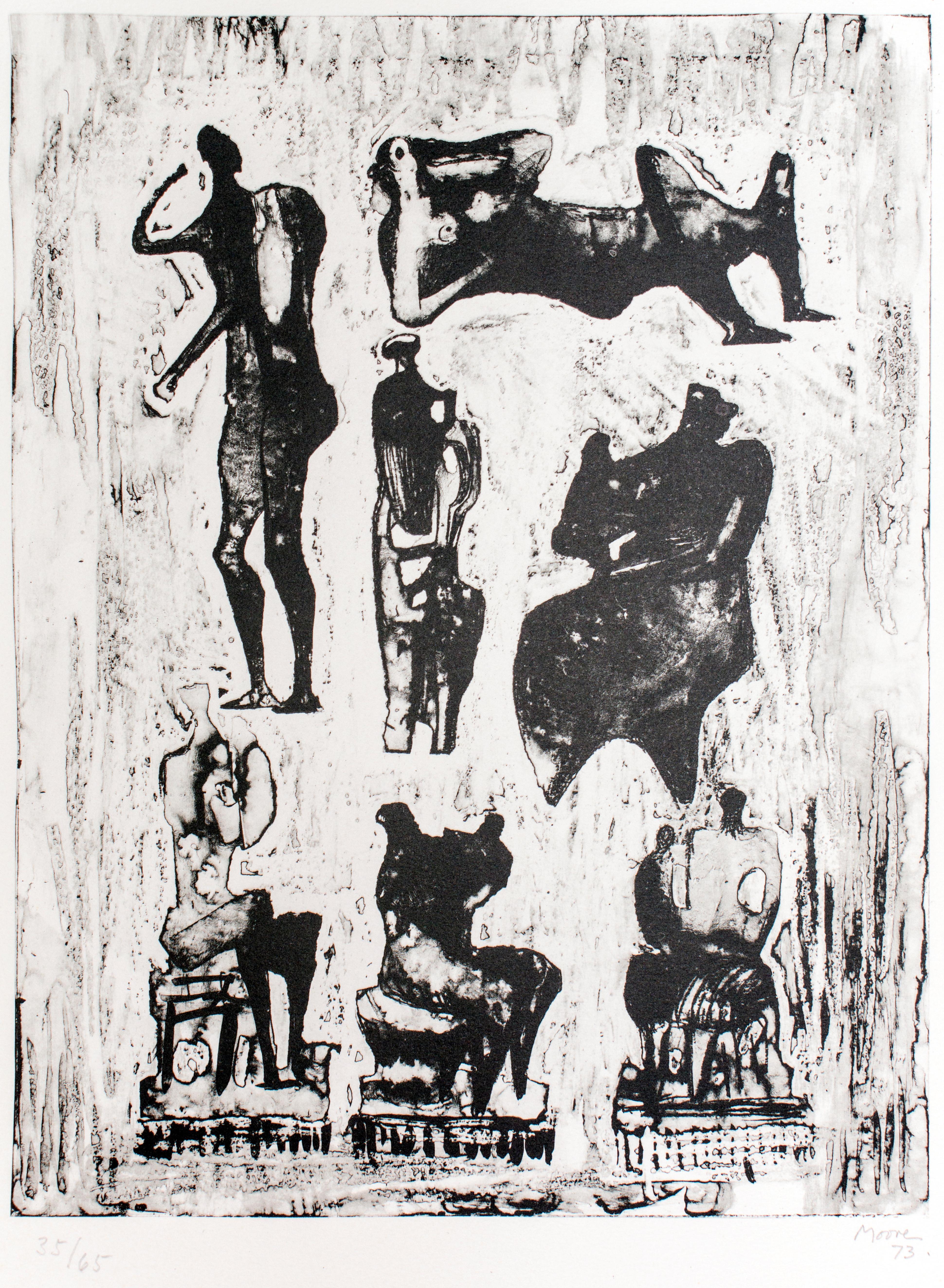 Seven Sculptural Ideas - 1970s - Henry Moore - Lithograph - Contemporary