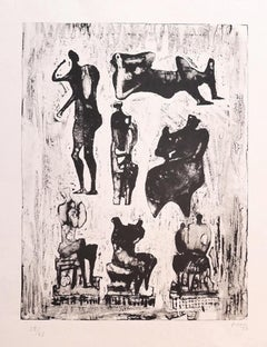 Seven Sculptural Ideas - Original Lithograph by Henry Moore - 1973