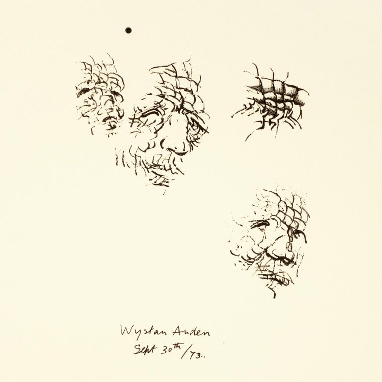 Sketches of Auden: black drawing based on Auden poetry and Yorkshire landscape - Print by Henry Moore