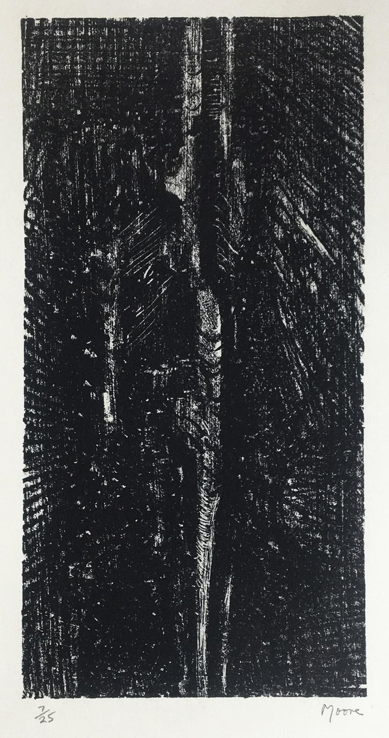 Split Stone: abstract drawing based on Auden poetry and Yorkshire landscape - Print by Henry Moore