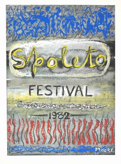 Spoleto Festival - Original Offset and Lithograph by Henry Moore - 1982