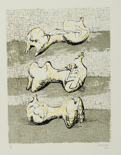 Three Reclining Figures, Modern Lithograph