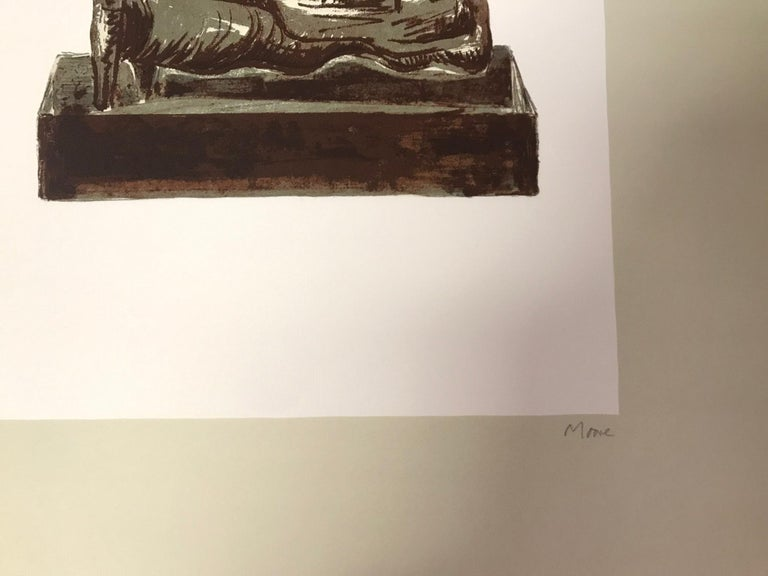 Three Reclining Figures on Pedestals - Original Lithograph by Henry Moore - 1976 For Sale 1