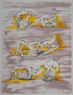 Three Reclining Nudes - Original lithograph