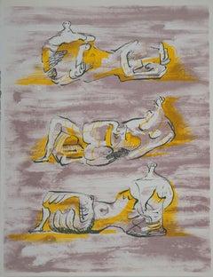 Three Reclining Nudes - Original lithograph